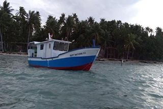 Indonesian vessel, nakitang palutang-lutang sa Palawan