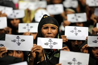 Rohingya protest for 'justice' on crackdown anniversary
