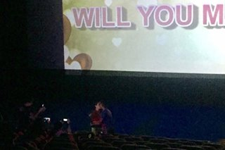Couple gets engaged during 'The Hows of Us' screening