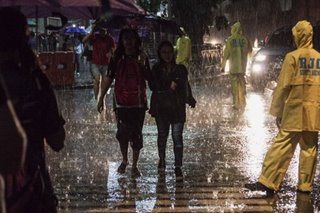 Heavy downpour with 'Ompong' coming