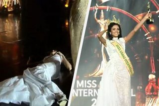 Winner collapses after being named Miss Grand International 2018