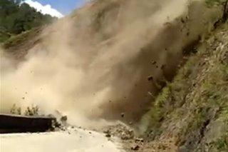 SAPUL SA VIDEO: Pagguho ng lupa sa Benguet