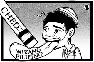 Erasing Filipino in college education