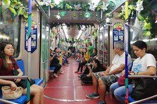 LOOK: LRT's 'Christmas train' unveiled