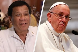 Duterte the 'devil's friend'? Palace reacts to Pope Francis' remarks