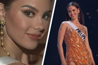 WATCH: The story behind Catriona's 'Adarna' gown, original sunray earrings in Miss Universe prelims