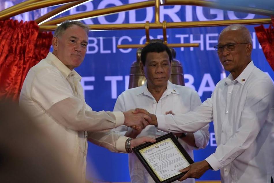 Duterte credits 'generous' US, Pinoys' 'fervent prayers' for return of Balangiga bells 1