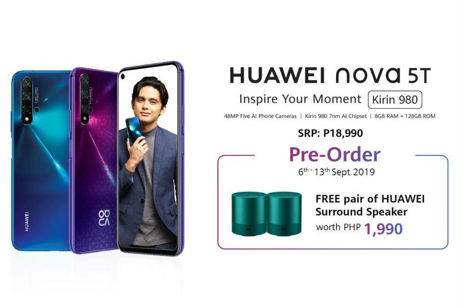 Huawei nova 5T, ang bagong flagship smartphone inaasahang papatok sa bagets
