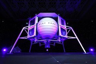 Billionaire Bezos unveils moon lander mockup, touts Blue Origin's lunar goals