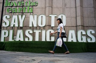 'Say no to plastic bags'