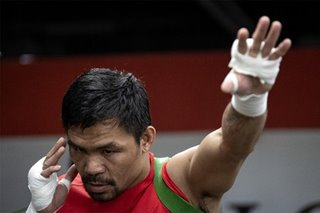 Boxing: Pacquiao arrives in LA for camp