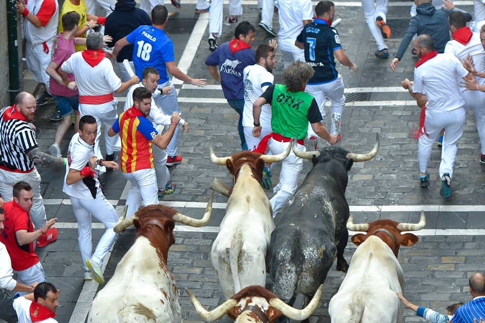 Five hospitalised on seventh day of Pamplona bull run