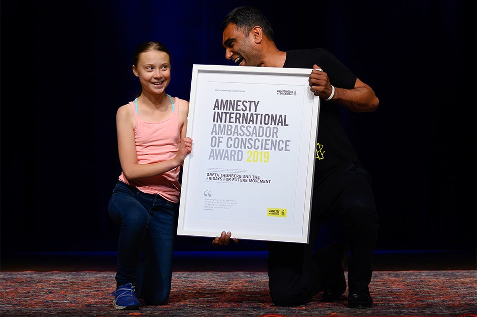 Greta Thunberg awarded international children's peace prize