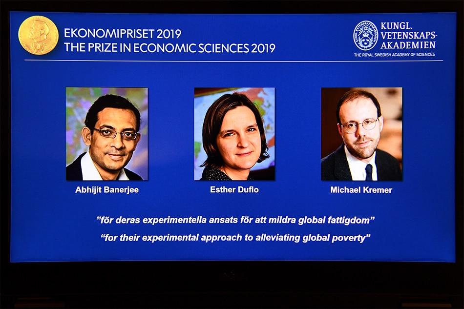Poverty researchers win Nobel Economics Prize 1
