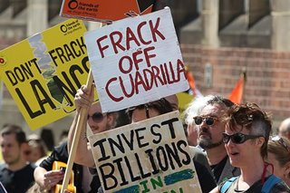 Fracking halted in England over earthquake fears: UK govt