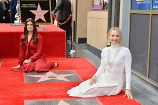 'Let it go': Kristen Bell, Idina Menzel get Hollywood stars