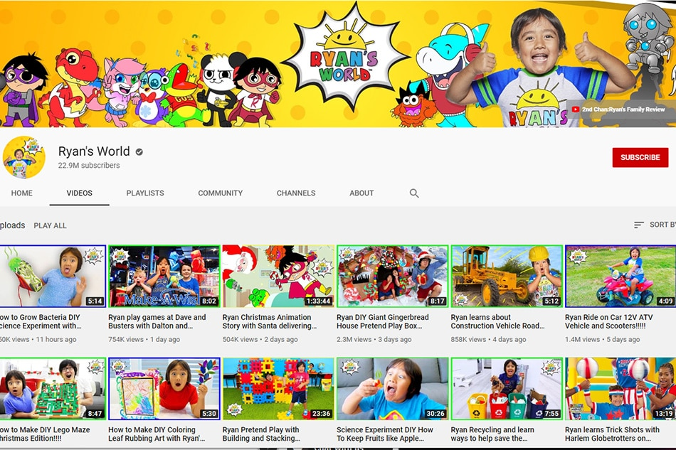 Eight-year-old is highest paid YouTuber, earns $26 mn in year