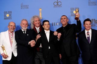 'Bohemian Rhapsody' wins Golden Globe for Best Motion Picture Drama