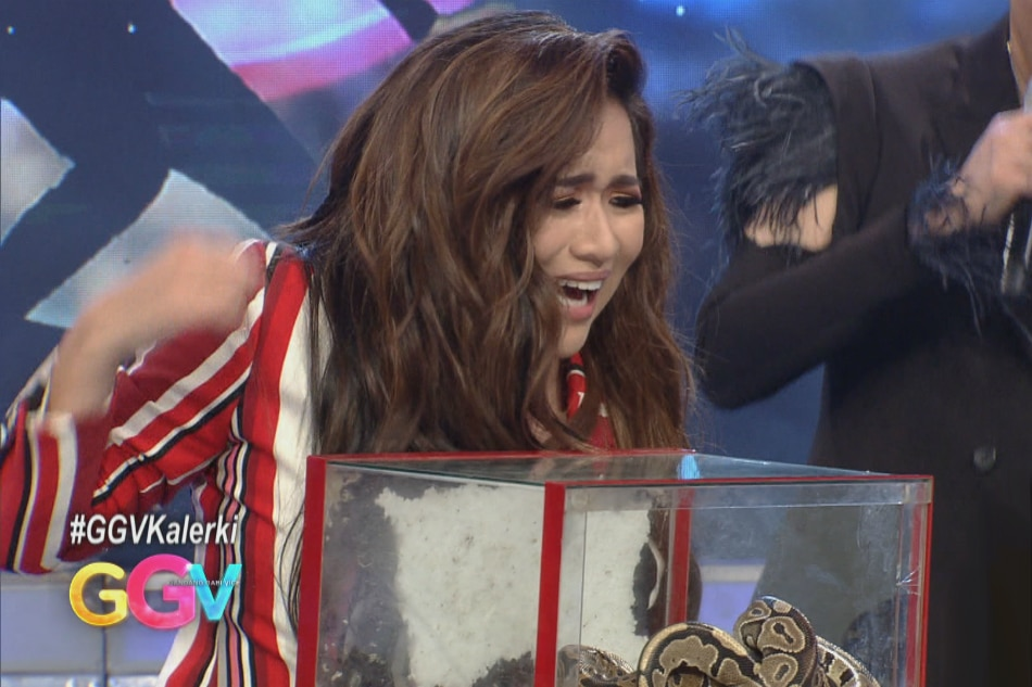 WATCH: Angeline Quinto sings while holding frogs, snakes