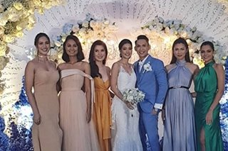 LOOK: Beauty queens reunite for Jehza Huelar's wedding