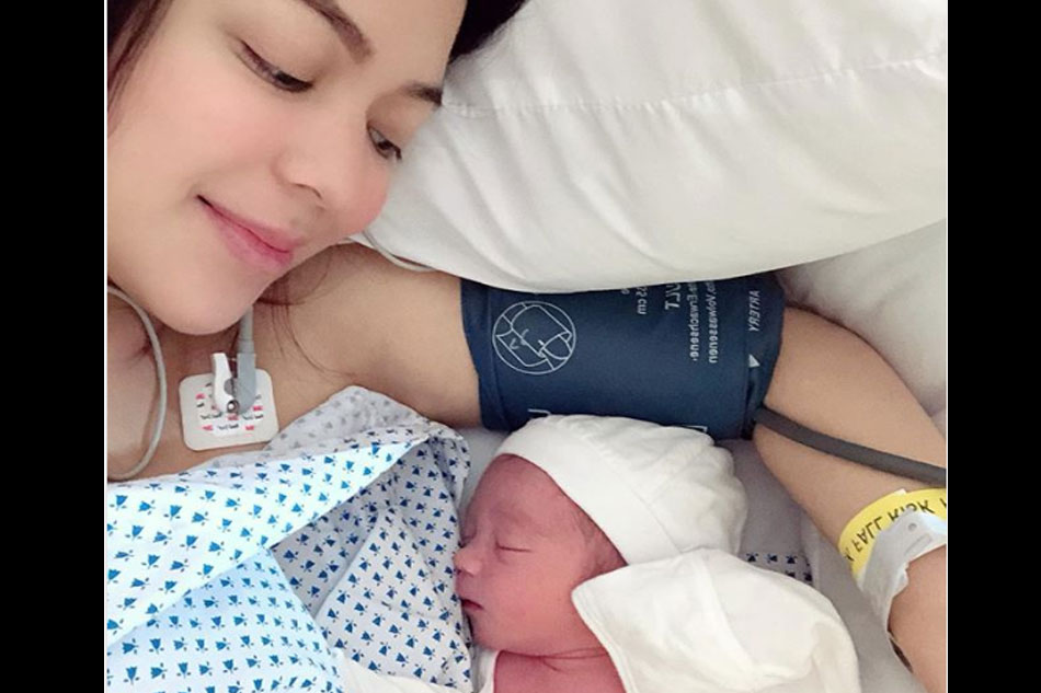 LOOK: Karel Marquez gives birth to baby boy Kobe