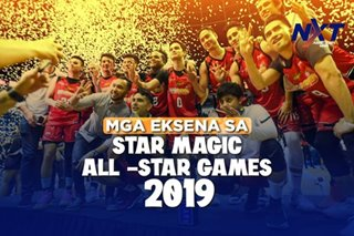Mga eksena sa Star Magic All-Star Games 2019