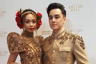 Maymay, Edward strut in matching pieces at ABS-CBN Ball 2019