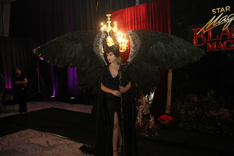 Look Dimples Romana Stuns As Maleficent At Black Magic