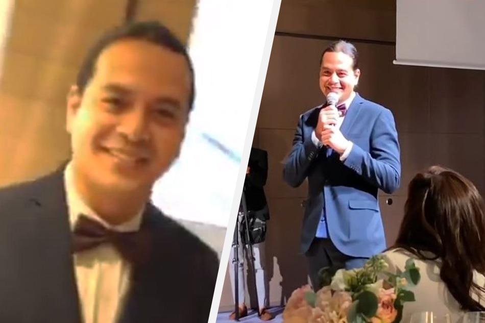 'Gawa kayong baby': John Lloyd jokes during funny speech at Vhong Navarro's wedding