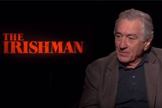 WATCH: Robert De Niro talks about 'The Irishman,' Scorsese and Pacino
