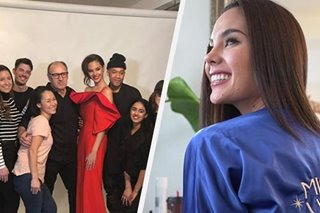 LOOK: Scenes from Catriona Gray's first official Miss Universe shoot