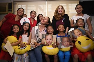 Catriona Gray visits kids with cleft palate, cleft lip at Smile Train