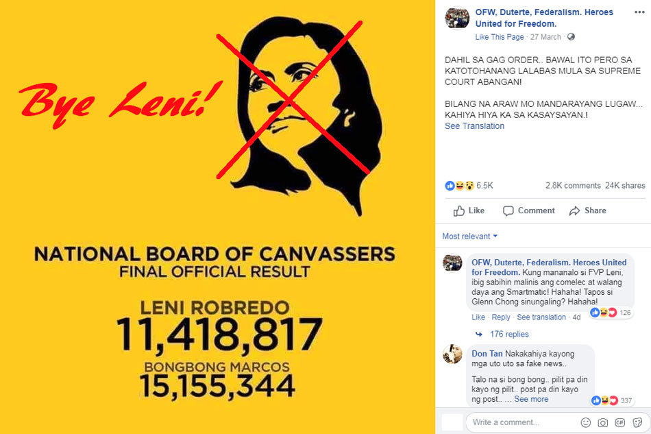 FACT CHECK: No, PH lawmakers do not have a 'final official