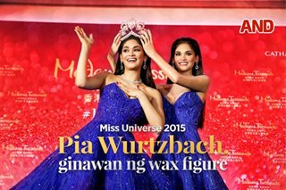 Miss Universe 2015 Pia Wurtzbach, ginawan ng wax figure