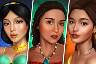 Nadine as Jasmine? Liza as Belle? Artist imagines Kapamilya stars as Disney princesses