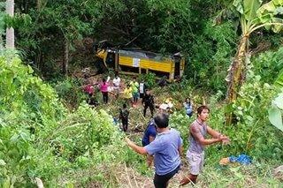 Pampasaherong jeep nahulog sa bangin sa Albay; 10 patay