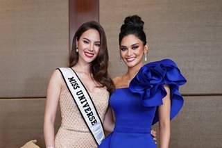 LOOK: Pia Wurtzbach, Catriona Gray reunite in Manila