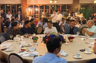 LOOK: Duterte meets incoming lawmakers in Malacañang