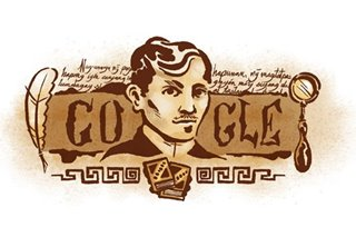 Google celebrates Jose Rizal's 158th birthday