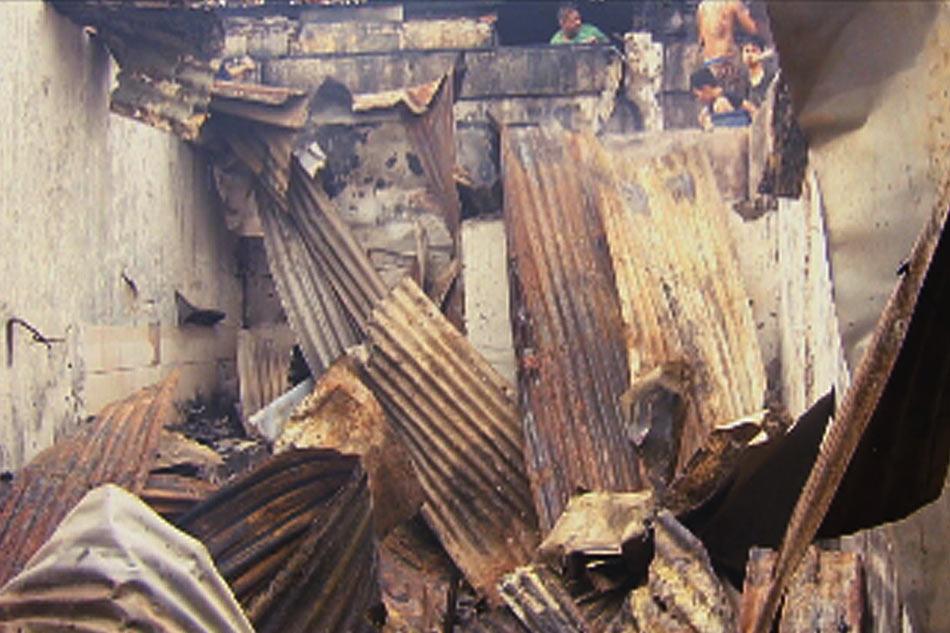 Nasa 100 pamilya nawalan ng tirahan sa sunog sa Caloocan