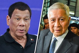 Duterte: Del Rosario had 'no business' using diplomatic passport in HK trip