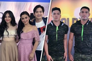 Gerald Anderson, Joshua Garcia cross paths at Kapamilya trade event