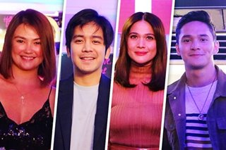 PHOTOS: Kapamilya, Kapuso stars unite at 'Hello, Love, Goodbye' premiere night