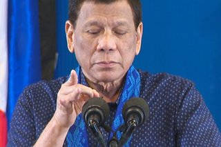 Shoo fly, don't bother me: Duterte takes insect cameo mid-speech in stride