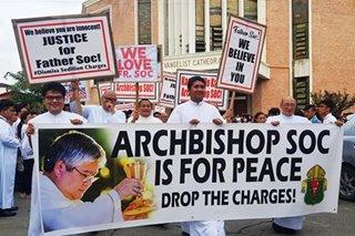 Mga pari at parishioners nagsama para suportahan si Archbishop Villegas