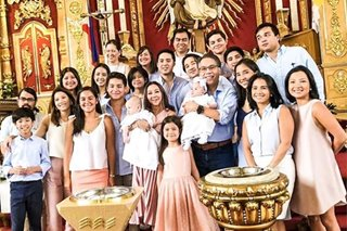 LOOK: Twin babies of Korina Sanchez, Mar Roxas get baptized