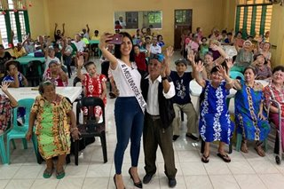 Gazini Ganados in senior citizens' embrace for Miss Universe advocacy