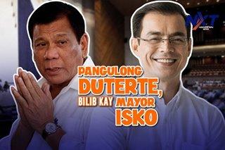 Pangulong Duterte, bilib kay Mayor Isko