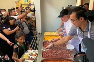 Ramon Ang gives back to birthplace Tondo, opens food bank in Manila