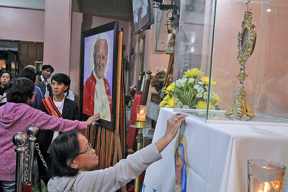 St. John Paul II blood relic in Baguio